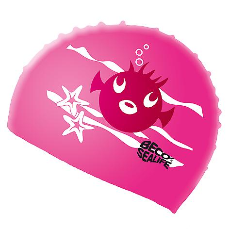 BECO Silicone Junior Sealife Swimming Cap - Pink