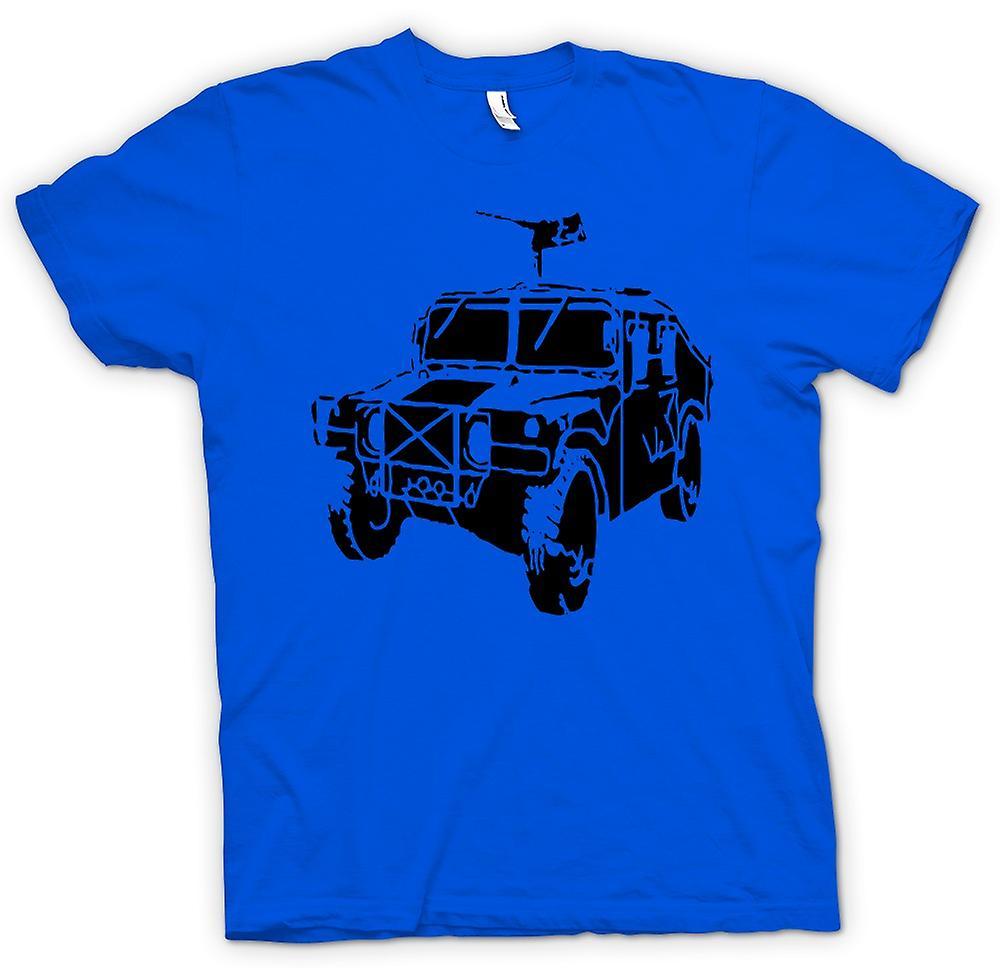 Heren T-shirt-Amerikaanse leger Humvee 50 Cal - militaire