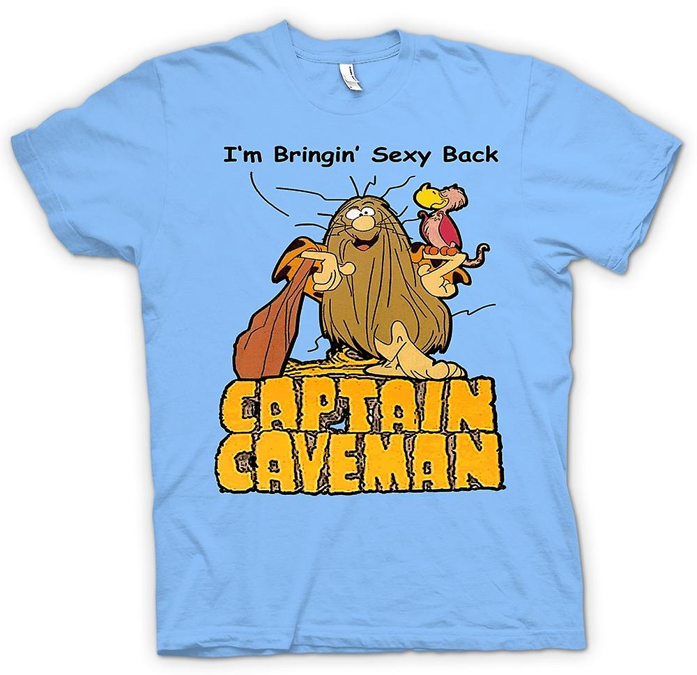 Hommes T-shirt - Captain Caveman - Funny Cartoon - Apportez Sexy