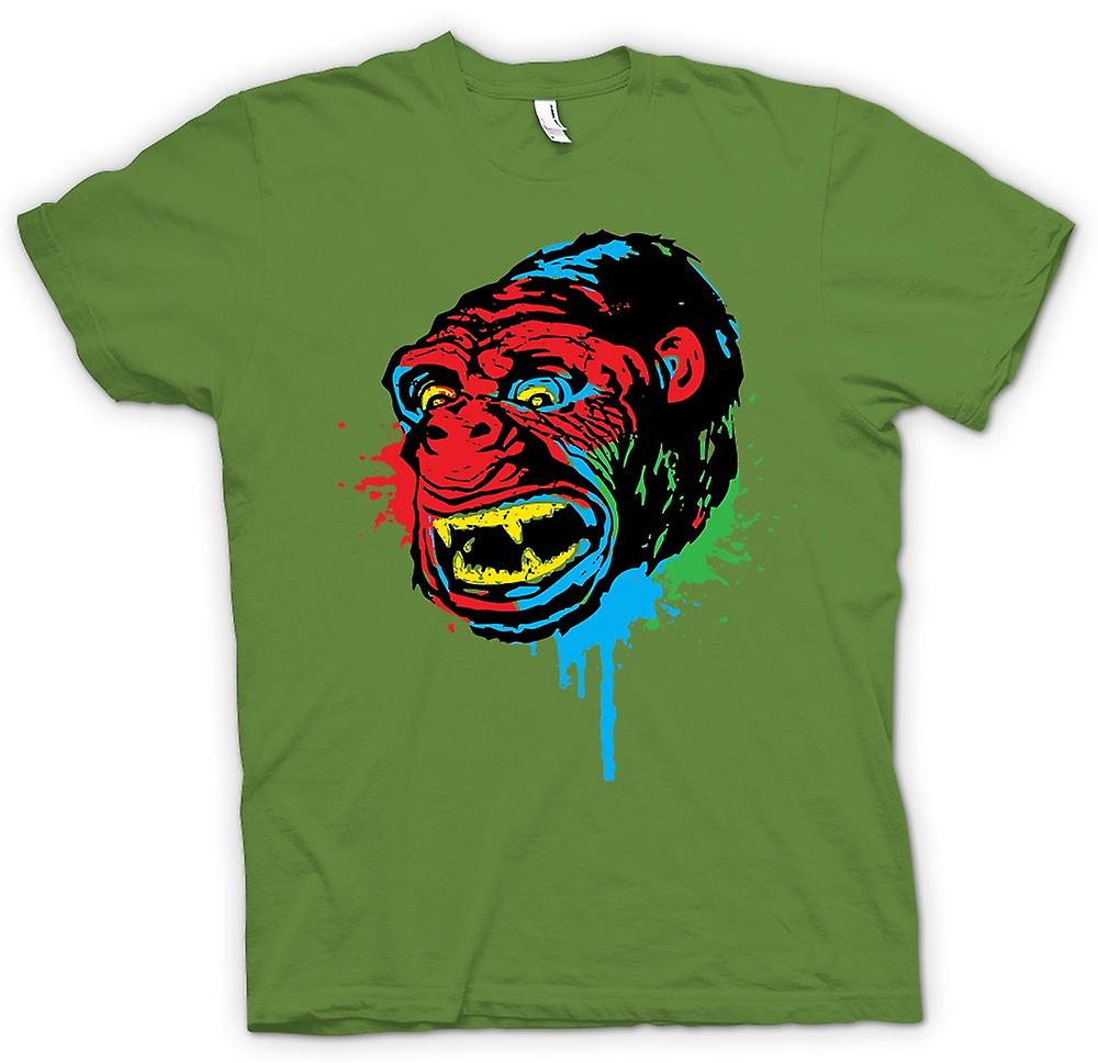 Mens T-shirt-Pop-Art - Affen Gorilla - cooles Design