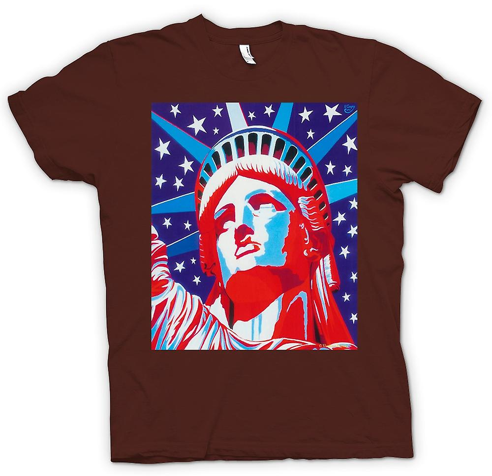 Heren T-shirt - Statue Of Liberty - popart