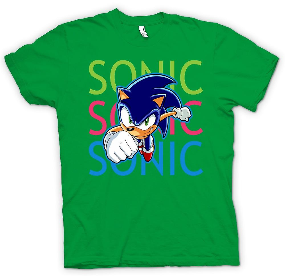 Hommes T-shirt - Sonic The Hedgehog - Gamer