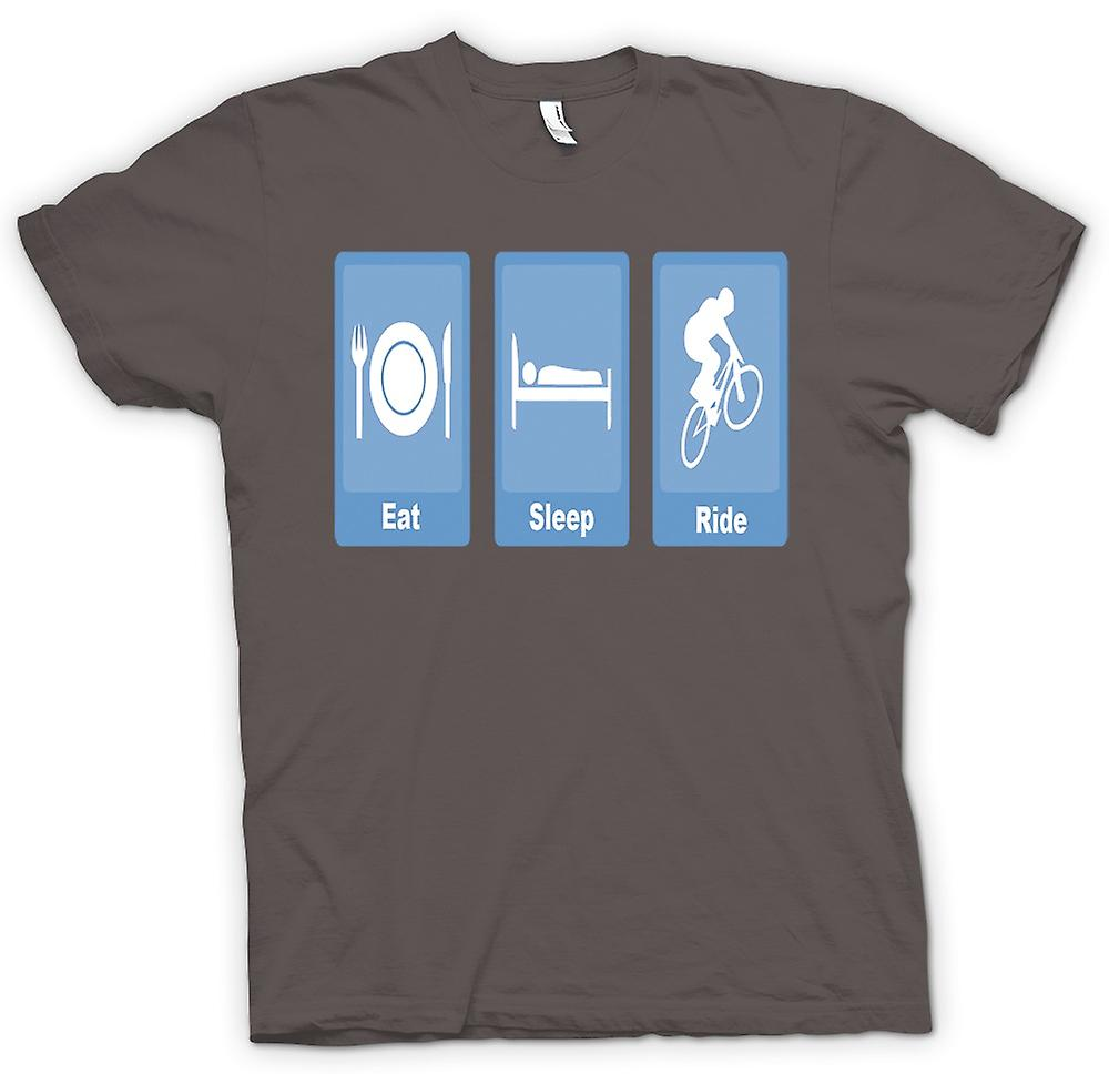 T-shirt des hommes - Eat Sleep Ride - Vélo