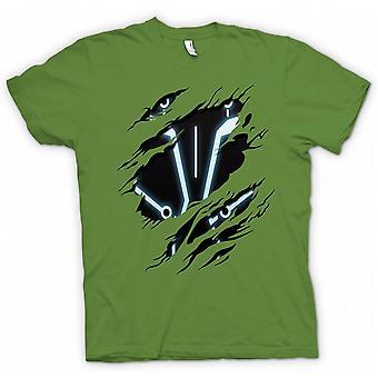 Womens T-shirt - Tron - Sci Fi Ripped Design