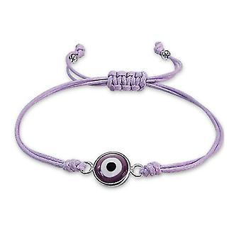 Mal de ojo - plata de ley 925 + pulseras con cordón de Nylon cable - W17337X