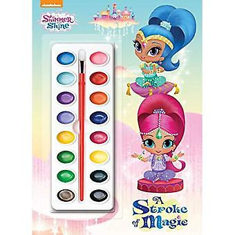 A Stroke of Magic (Shimmer and Shine) (Deluxe Paint Box Book)