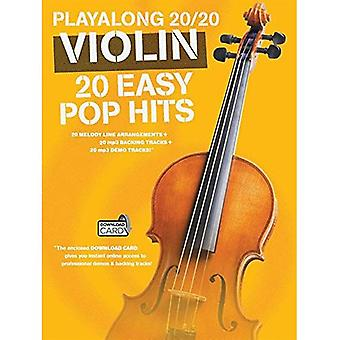 Playalong 20/20 Violin Violin (Book and Download Card) (Playlong 2020)