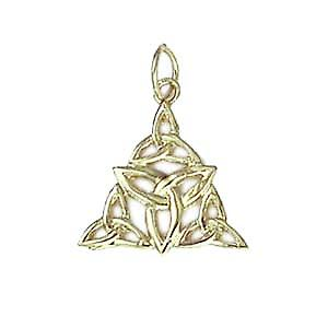 9ct Gold 17x16mm triple Celtic Trinity knot Pendant