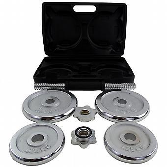 BodyRip 10 kg Chrome set d'haltères à Carry Case
