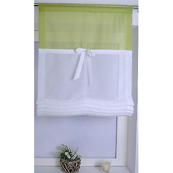 Kutti romantisches pflegeleichtes Raffrollo »Rainbow« mit Tunnel weiß-grün