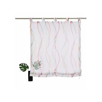 my home curtain transparent Roman shade with loops grey