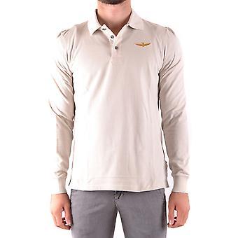 Aeronautica Militare weißer Baumwolle Polo-Shirt