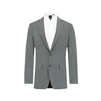 Dobell Mens Light Grey Suit Jacket Slim Fit Notch Lapel