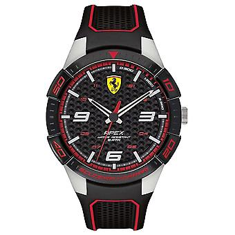 Scuderia Ferrari | Men's Apex | Black Rubber Strap | BlackRed Dial | 0830630 Watch