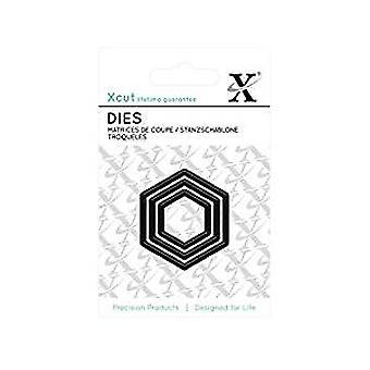 Xcut Mini Die - (3pcs) Hexagons (XCU 503616)