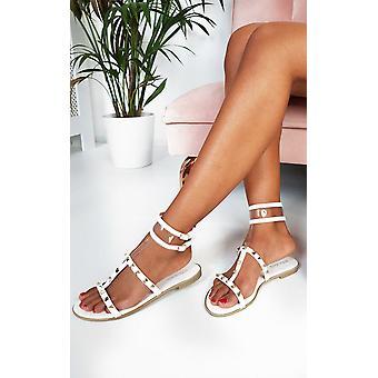 IKRUSH Womens Paula Studded Perspex Sandals