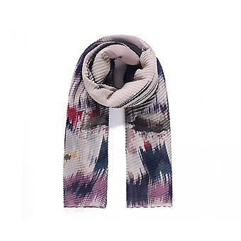 Intrigue Womens/Ladies Watercolour Print Pleated Scarf