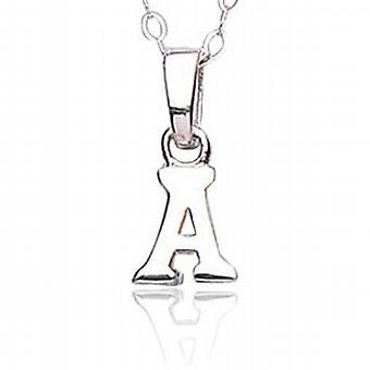 Jo For Girls Sterling Silver Initial 'A' Pendant Necklace 14