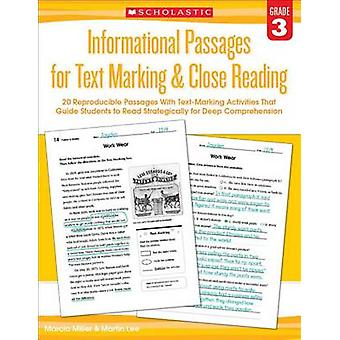 Informational Passages for Text Marking & Close Reading - Grade 3  - 20