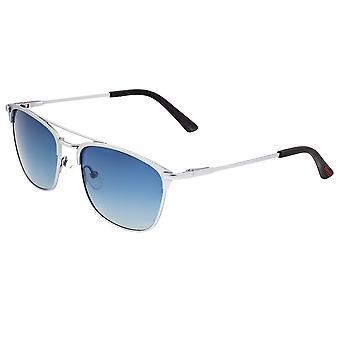Breed Zodiac Titanium Polarized Sunglasses - Silver/Blue