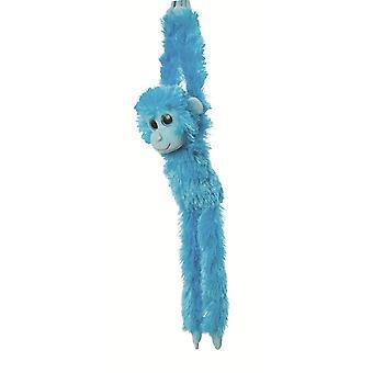Aurora världen 19-tums färgglada hängande schimpans (blå)