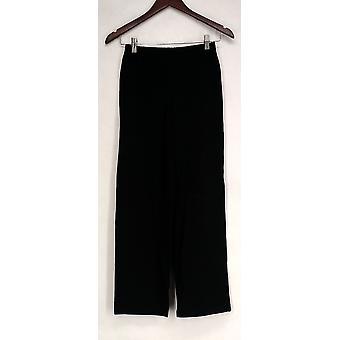 Femmes w/ Contrôle Petite Pantalon Pull-On Wide Leg Black A266860