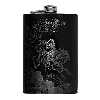8oz black the pale rider flask l1