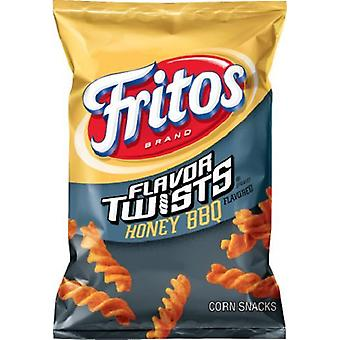 Fritos Flavor Twists Honey BBQ Frito Lay Crunchy Chips