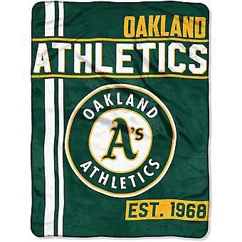 Northwest MLB Oakland Athletics Mikro Plüschdecke 150x115cm