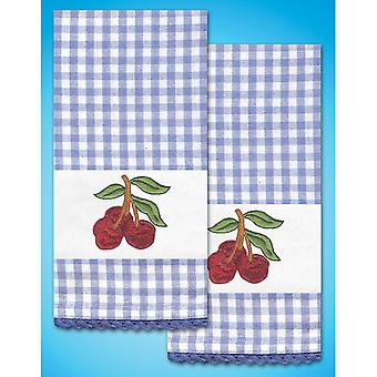 Stamped Kitchen Towels For Embroidery 16
