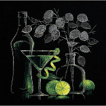 Still Life With Martini Counted Cross Stitch Kit 11.75