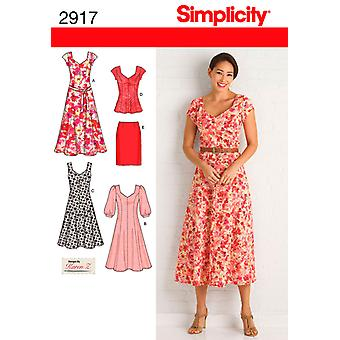 Simplicity Misses' Women's Dress In Two 20W  28W U02917bb