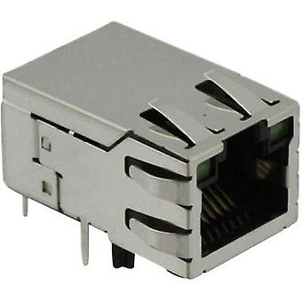 BEL Stewart Connectors SI-50170-F, Pin RJ45 Socket, horizontal mount Nickel-coated, Metal