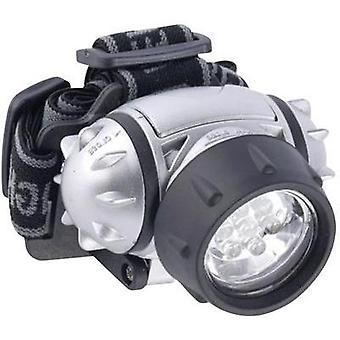 LED Headlamp Grundig 7 LED head torch battery-powered 120 g Silver 38692