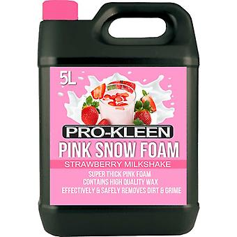 5 Litre Pro-kleen Strawberry Milkshake Pink Snow Foam