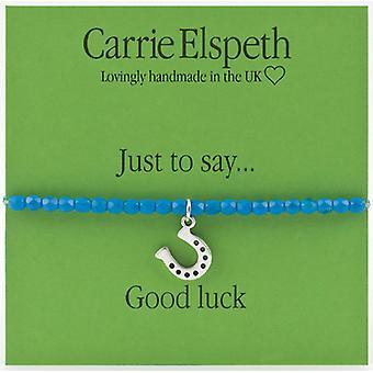 Carrie Elspeth solo per dire buona fortuna Horse Shoe braccialetto