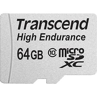 microSDXC card 64 GB Transcend High Endurance Class 10 incl. SD adapter