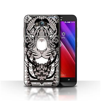 STUFF4 Case/Cover for Asus Zenfone Max ZC550KL/Tiger-Mono/Aztec Animal