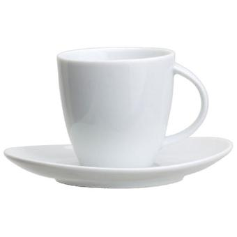 Avet 140ml Cup With Plate Set of 6