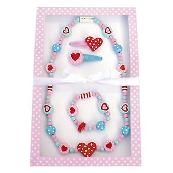 Jabadabado Jewelryset Heart (Toys , Home And Professions , Makeup And Accessoiries)