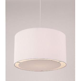 96043-WH Colette Pleated Fabric White Non-Electrical Pendant