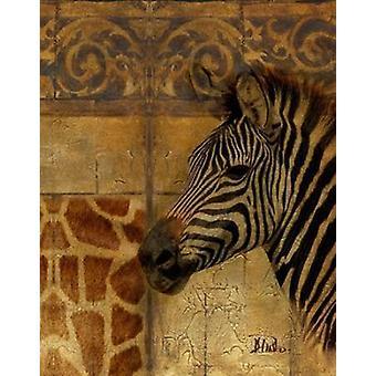 Elegant Safari I-Zebra Poster Print by Patricia Pinto