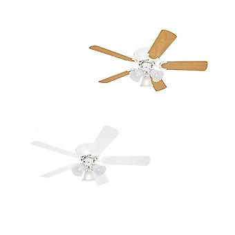 "Ceiling fan Kisa White 105 cm / 41"" for low ceilings"