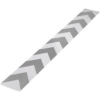 Warning stripe Conrad Components RTS Silver, Red (L x W) 1 m x 115 mm Content: 1 pc(s)