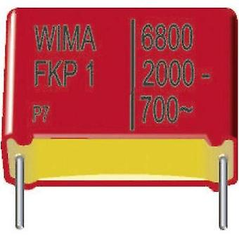FKP thin film capacitor Radial lead 1000 pF 2000 Vdc 10 % 15 mm (L x W x H) 18 x 7 x 14 mm Wima FKP1 1 pc(s)