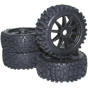 Reely 1:8 Buggy Wheels Big Core 10-spoke Black 4 pc(s)