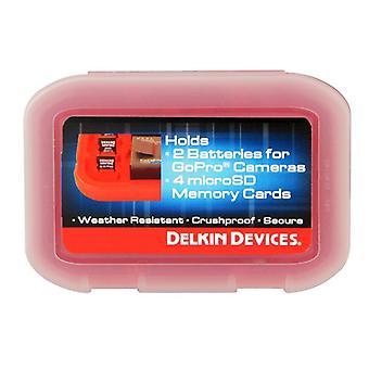 GoPro карты памяти и батареи случае - держит 4 & батареи 2 GoPro microSD карты.