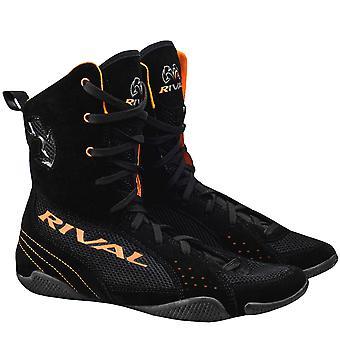 منافسة الملاكمة-أعلى مش نصب منصة نظام تشغيل واحد V2 أحذية-أسود/برتقالي