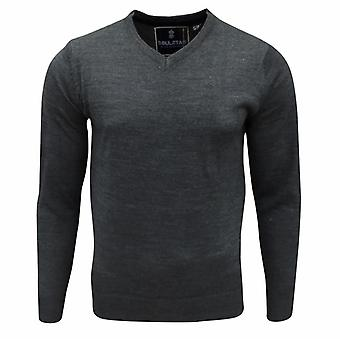 Soul Star Men's Alpha Vee Knitted Jumper Top