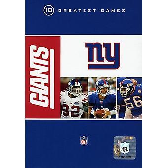 NFL New York Giants 10 største spil [DVD] USA importerer